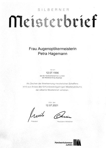 Silbernes Meisterjubiläum - Petra Hagemann, Brillenphantasien